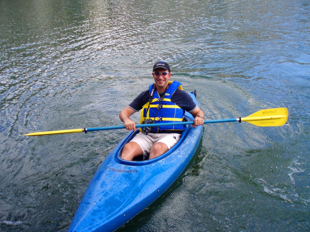 Kayaking at Keystone Lake