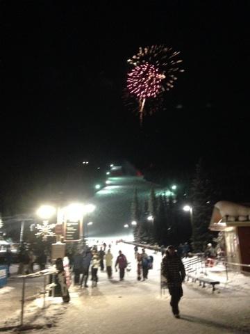 Fireworks over River Run Night Skiing at Keystone