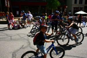 Bike Parade in River Run Keystone