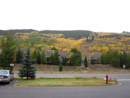 Viewing the fall colors from the SummitCove check-in office at Keystone Resort