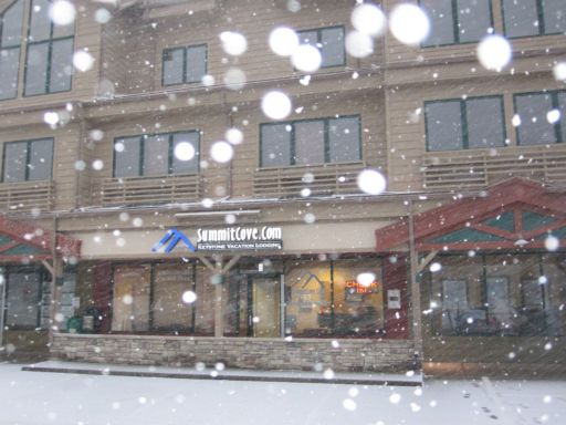 Snowing at our office and dumping at A Basin