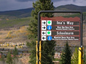 Trail signs show you the way