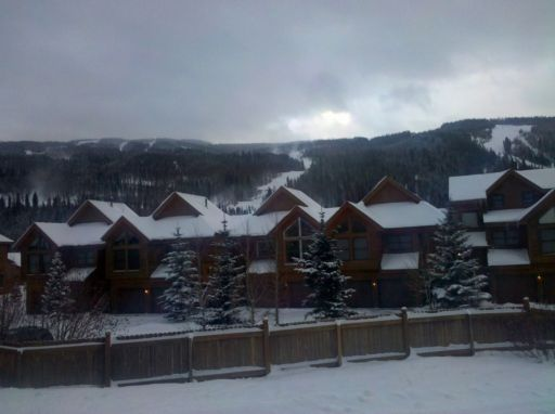 View of keystone resort from gateway mountain lodge