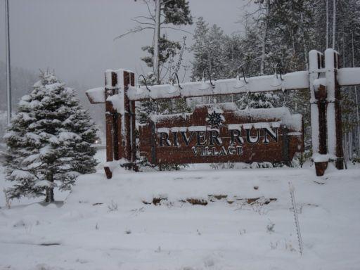 Entrance sign at Keystone Resort in River Run Village