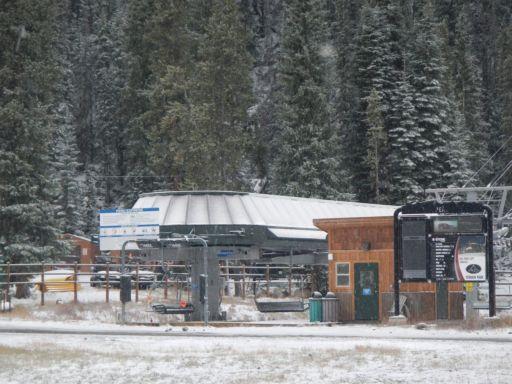 Peru ski lift at the Mountain House base in Keystone Colorado