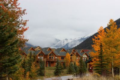 Snowing in the mountains of Keystone Colorado