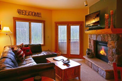 Condo in River Run Village, living room with TV
