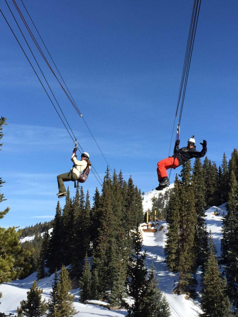 Zip Liners at Top of the Rockies Zip Lining Near Keystone Resort CO