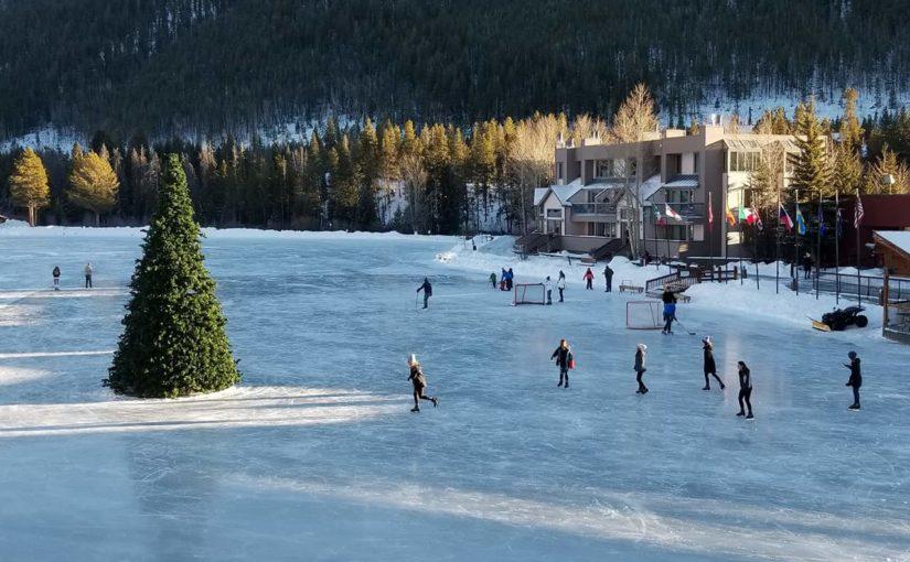 Ice Skating at Keystone Lake Colorado