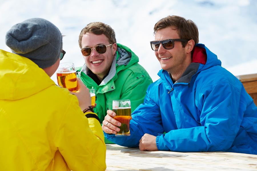 Beer in the sun at Keystone Resort