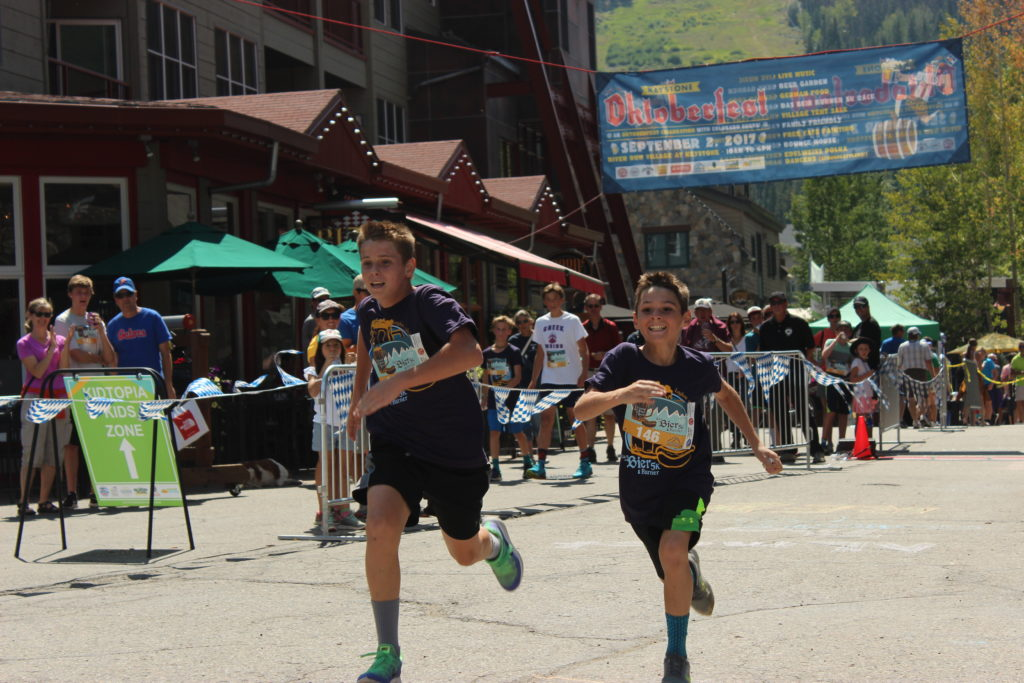 Finishers at the Das Bier Burner 5K Colorado Keystone Oktoberfest Fun Beer Run