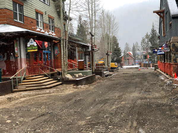 New Snowmelt System in River Run Village at Keystone