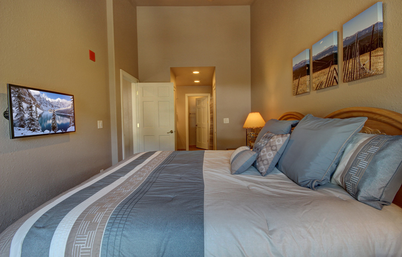 Master Bedroom with King at Hidden River