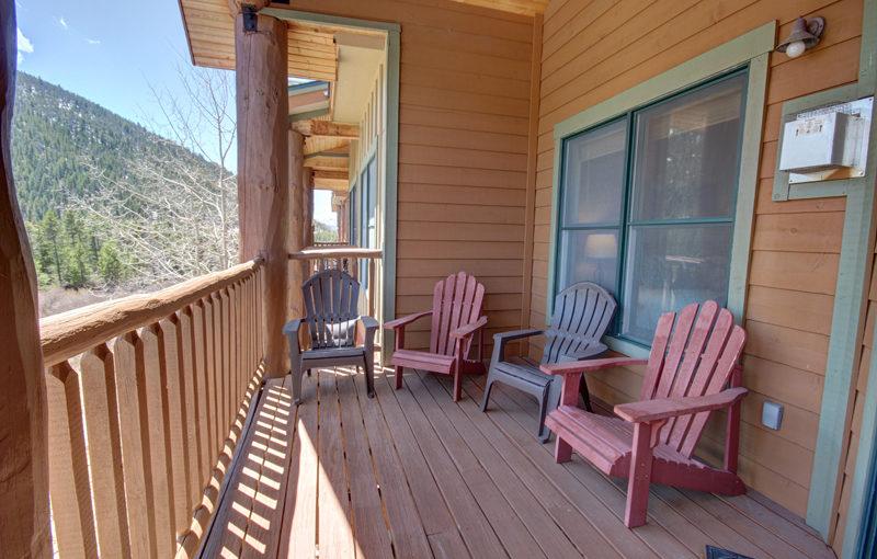 Deck Views at Hidden River Lodge Colorado