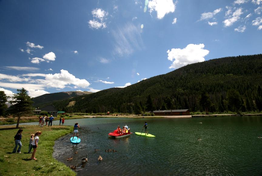 Summer fun at Lake Keystone CO