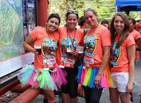 Happy Female Runners at the Das Bier Burner 5K in Keystone Resort