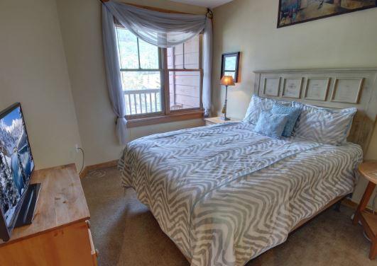 Master bedroom at Buffalo Condo in River Run Village