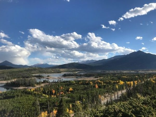 The view of Lake Dillon and Fall Colors