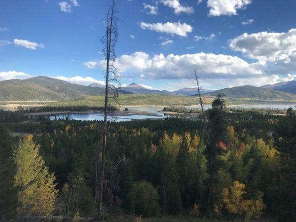 Great view of Lake Dillon from Old Dillon Reservoir Trail