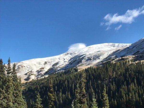 Snow on the Peaks Near Loveland Pass