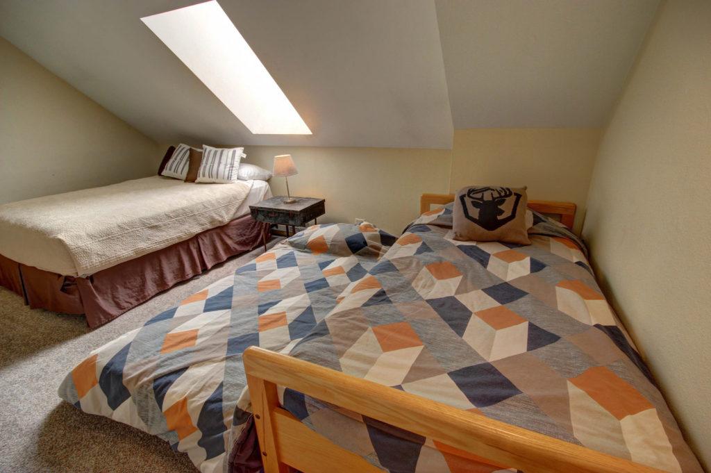 Pine vacation rental loft area