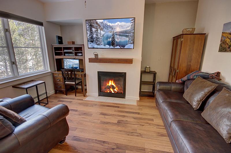 Gas fireplace at Seasons
