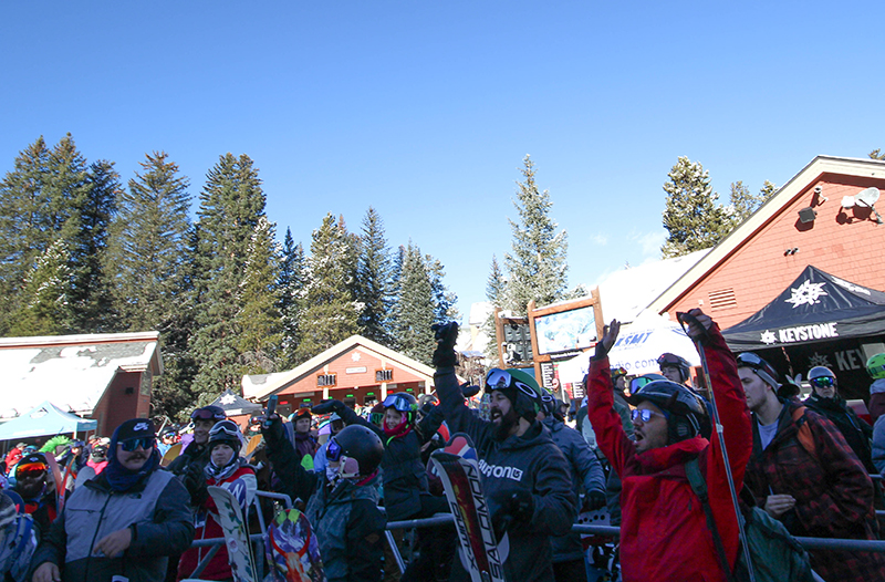 Excited crowds at Keystone Opening Day