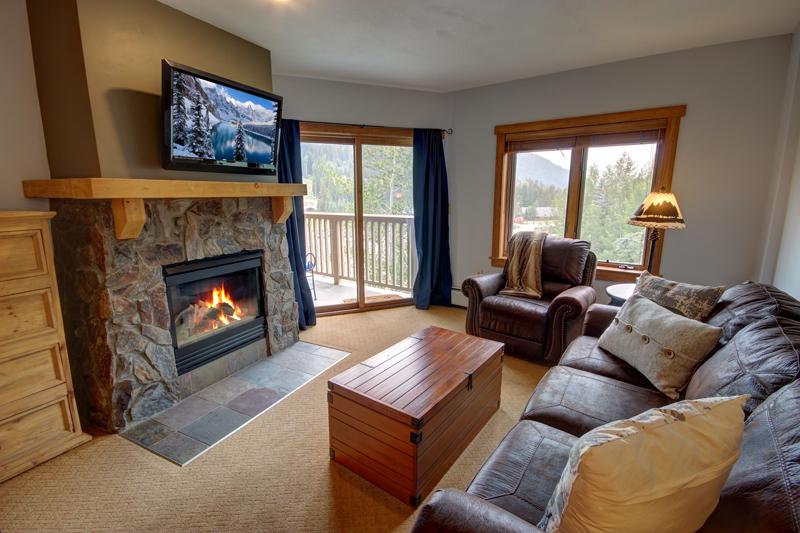 Fireplace at Red Hawk Lodge Keystone Condo