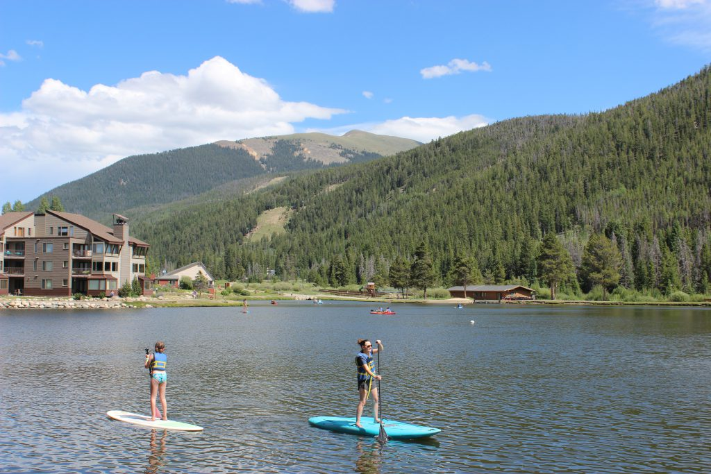 Lakeside Village paddle boarding