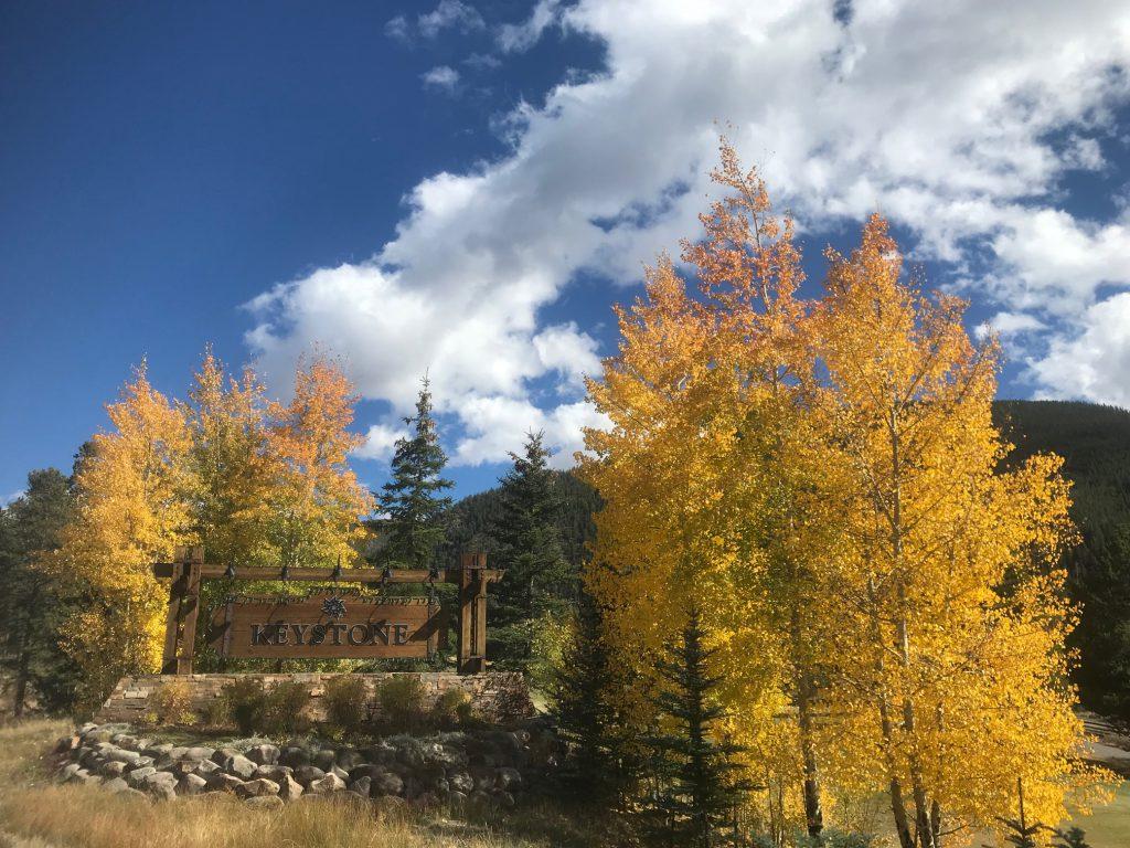 Fall colors at Keystone Resort CO