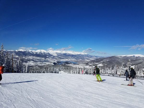 Skiing at the top of Keystone opening day