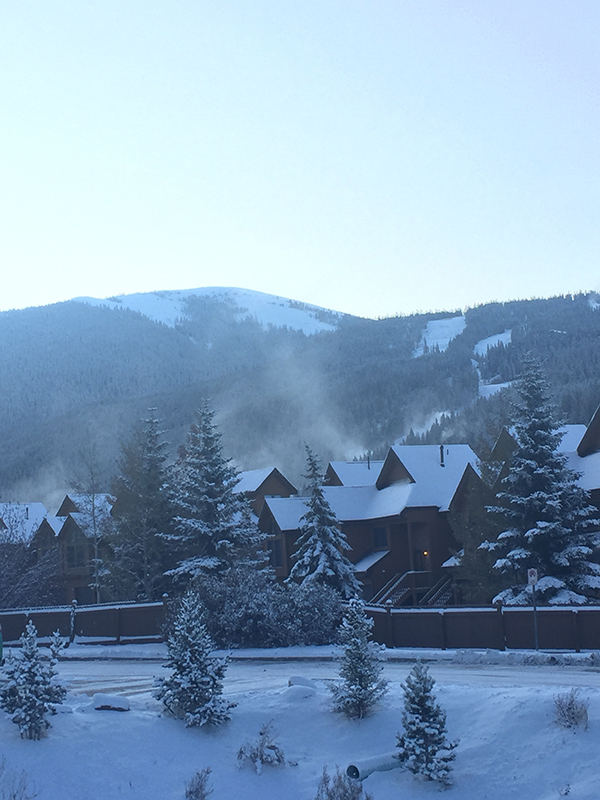 Snowy Morning at Keystone Resort October 2019