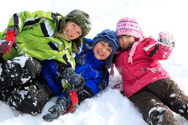 Kids having fun in snow at Keystone