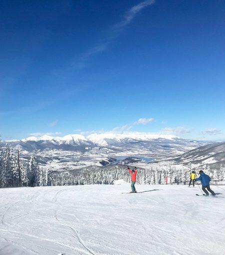 Happy Skier at Keystone Ski Resort Dercum Mountain