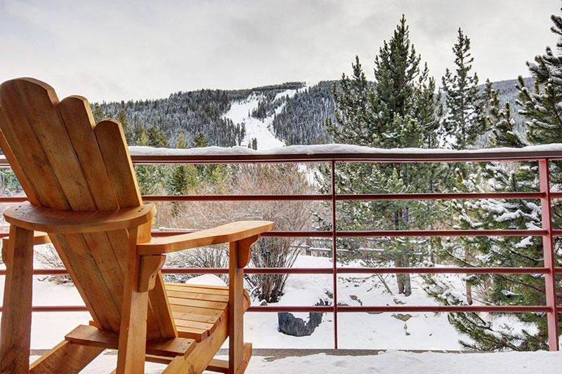 Ski Slope Views from Balcony of Ski Run Condos