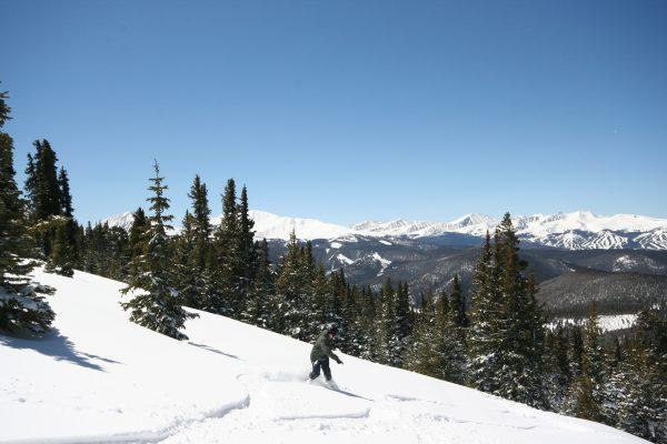 Keystone Snowboarder Colorado in Powder