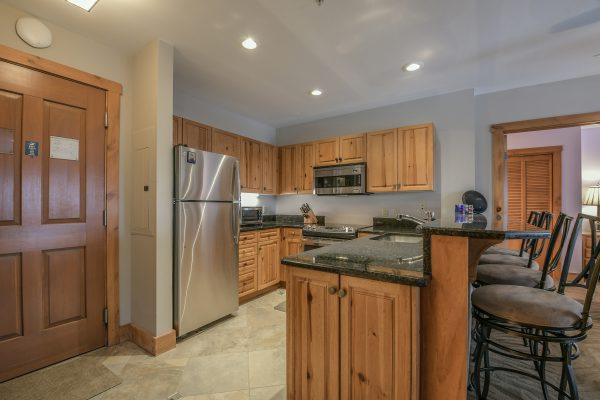 Updated kitchen at Expedition Station Condo 8597