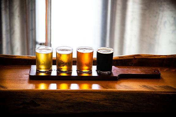 Pug Ryans Beer Flight Dillon CO