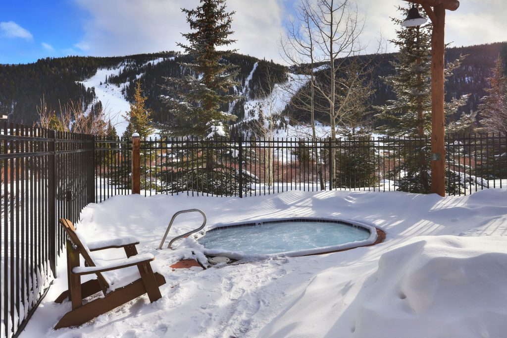 Ski Slope Views from the Hot Tub at Tenderfoot Condos in Keystone